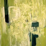 "'White in Green' 60"" x 48"""