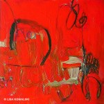 "'My Red Diary, Chapter 4' 20"" x 20"""