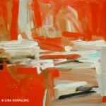 "'Red Landscape' 12"" x 12"""